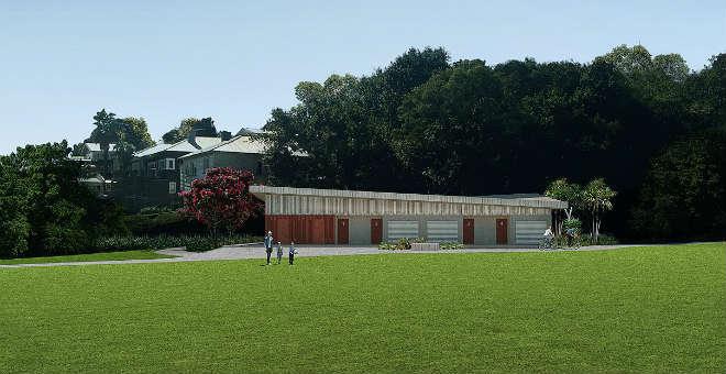 Grey Lynn Park - new changing rooms & toilet block