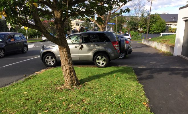 Residents ticketed for parking in entrance to own driveways