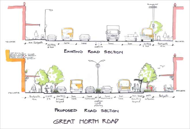 Great North Road Grey Lynn precinct vision