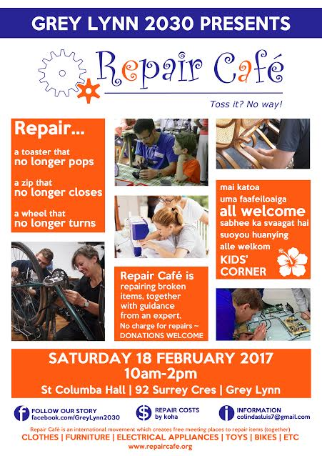 Repair Cafe Grey Lynn